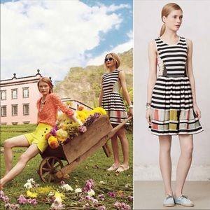 Anthropologie modern composition striped dress